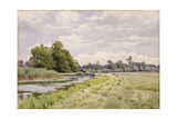 On the River Ouse, Hemingford Grey, 1904 Giclee Print by William Fraser Garden
