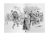 The Irrepressible Suffragettes Create a Diversion in the Lobby, from an Article Entitled 'The… Giclee Print by Ralph Cleaver