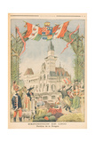 The Hungarian Pavilion at the Universal Exhibition of 1900, Paris, Illustration from 'Le Petit… Giclee Print by Fortune Louis Meaulle