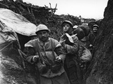 French Army Cooks in a Trench During WWI, France, 1914-18 Photographic Print by  French Photographer