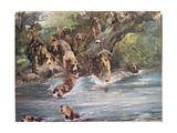 Into the River, Illustration from 'Hounds' Giclee Print by Thomas Ivester Lloyd