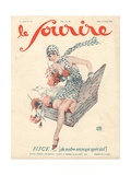 Front Cover of 'Le Sourire', 1929 Giclee Print by Georges Leonnec