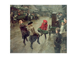 London Street Children, 1904 Giclee Print by Edward R. King