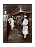 Chefs Cooking at Sherry's Restaurant, New York, 1902 Giclee Print by  Byron Company