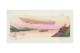 Zeppelin, Published Paris, 1914 Giclee Print by Ernest Montaut