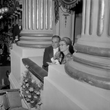 Prince Rainier and Princess Grace of Monaco at the First Night of the Opera Season at the Scala,… Photographic Print