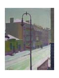 London Street in the Snow, 1917 Giclee Print by Harold Gilman