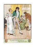 A Gentleman Whose Eyes Looked as If They Saw No One Else Giclee Print by Charles Edmund Brock