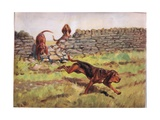 Over the Wall, Illustration from 'Hounds' Giclee Print by Thomas Ivester Lloyd