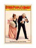 Poster Advertising a Production of 'Other People's Money', Printed by the Russell Morgan Print… Giclee Print by  American School