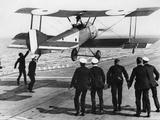 Squadron Commander Edwin Dunning Landing a Sopwith Pup on Board HMS Furious, 2nd August, 1917 Photographic Print by Thomas E. & Horace Grant