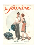Nouveaux Maries, Illustration from 'Le Sourire', June 1930 Giclee Print by Georges Leonnec