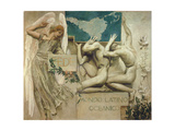Fede, Mondo Latino Oceanico, 1904 Giclee Print by Giulio Aristide Sartorio