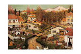 Landscape with Figures Giclee Print by Ramon Pichot Girones