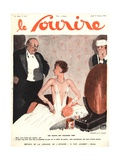 Front Cover of 'Le Sourire', October 1929 Giclee Print by Georges Leonnec