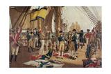 Nelson's Last Signal at Trafalgar Giclee Print by Thomas Davidson
