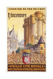 Travel Poster of the Chemin de Fer de l'Est Advertising Trips to Vincennes, c.1920 Giclee Print by  French School