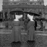 Two Nuns Awaiting the Coronation of Pope John XXIII, Vatican City, 4th November 1958 Photographic Print