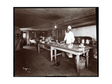Chef in the Kitchen at Janer's Pavilion Hotel, Red Bank, New Jersey, 1903 Giclee Print by  Byron Company