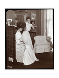 Mrs. K. Duer, Seated, with a Daughter, New York, 1906 Giclee Print by  Byron Company