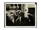 Group of Three Young Blind Women, One at the Piano, Two Playing Violins, at the New York… Giclee Print by  Byron Company