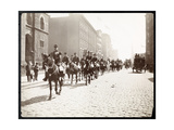 View of General McAlpin and John Jacob Astor Leading a Horseback Parade of  Giclee Print by  Byron Company