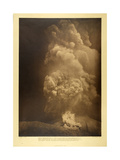 Vesuvius - aAGreat Avalanche of Hot Ashes Near the Observatory, 13th April 1906 Giclee Print by F.A. Perret
