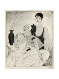 Lorelei and Dorothy, Illustration from 'But Gentlemen Marry Brunettes' by A Giclee Print by Ralph Barton