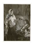 Florence Nightingale in the Hospital at Scutari, Illustration from 'Cassell's Illustrated History… Giclee Print by Henrietta Rae