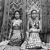 Dayak Iban Women Clad in Silver on a Ceremonial Occasion in the 1940s Photographic Print