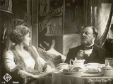 """Still from the Film """"The Blue Angel"""" with Marlene Dietrich and Emil Jannings, 1930 Reproduction photographique par  German photographer"""