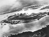 Aerial View of Ford Island and Battleship Row, Pearl Harbor, 7th December 1941 Photographic Print by  Japanese Photographer