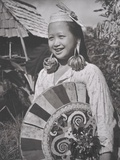 Kayan Woman with Stretched Earlobes c.1940 Photographic Print