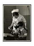 Nurse and a Visually Impaired Girl at the Clinic of the New York Association for the Blind, 114… Giclee Print by  Byron Company
