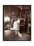 Mrs. I. M. Clark at the Piano, 1904 Giclee Print by  Byron Company