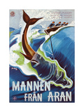 Advertisement for Mannen Fran Aran, Printed by J. Olsens Lito., Anst., Stockhholm, 1937 Giclee Print by John Jon-And