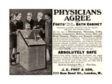 Advertisement for 'Foots' Hot Air and Vapor Bath Cabinet', 1900s Giclee Print by  English School