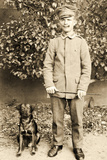 German Soldier with a Dog, 1914-18 Photographic Print by  German photographer