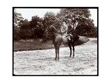 Portrait of Otto Kahn Posed on a Horse on the Bridle Path in Central Park, New York, 1907 Giclee Print by  Byron Company