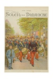 Review of the 14th July, Illustration from the Cover of 'Soleil Du Dimanche' 21th July 1901 Giclee Print by Alphonse Lalauze