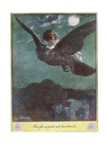 Flight on the Bird, Illustration from 'The Cuckoo Clock' by Mrs Molesworth, Giclee Print by Charles Edmund Brock