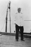 Admiral Togo Heihachiro on Board the Japanese Battleship 'Nuikasa, Early 20th Century Photographic Print by Valerian Gribayedoff