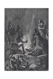 The Bivouac before the Battle of Bussaco, Illustration from 'British Battles on Land and Sea',… Giclee Print by Richard Caton Woodville II