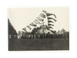 Maori Reception at Arawa Park, Rotorua, c.1925 Giclee Print by  Guy Photo Studio