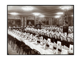 Banquet Hall with Table Set for the National Biscuit Co. Banquet, New York, 1904 Giclee Print by  Byron Company
