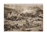 The Battle of Champigny, 30th November 1870, Illustration from 'The Outline of History' by H.G.… Giclee Print by Alphonse Marie de Neuville