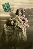 'Kisses' Postcard, 1911 Photographic Print by  French Photographer