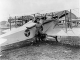 General Mitchell Standing by a VE-7 at Bolling Field Air Tournament, 1920 Photographic Print