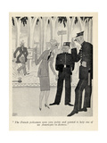 'The French Policemen Were Very Polite...', Illustration from 'But Gentlemen Marry Brunettes' by… Giclee Print by Ralph Barton