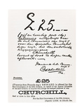 Wanted Poster for Escaped Prisoner of War Churchill, from 'A Roving Commission by Winston S.… Giclee Print by  South African School